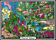 Tableau à colorier en velours - Pont Japonais - Neuf