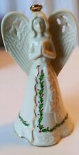 Large Lenox Porcelain & Gold Holiday Angel Bell Ornament - In Original Box