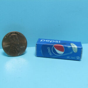 Dollhouse Miniature Replica Pepsi Soda Box / Case