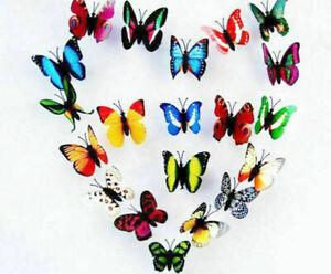 100pcs/Lot Wholesale Multi-color 3D Artificial Magnet Butterflies - Weeding Gift