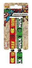 Marvel Retro (Iron Man & Hulk) Pack Of 2 Fabric Festival Wristbands BY PYRAMID