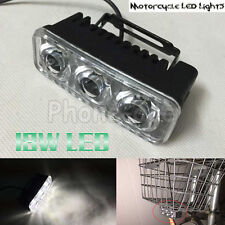 Super Bright 18W 3 LED Motorcycle Fog Lights Headlight Driving Night Safety Lamp
