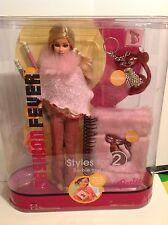 2005 Barbie Fashion Fever Styles 2 Unique Doll Diary Pencil Eraser Keychain NRFB