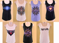 MIXED LOT 7 PC ANVIL WOMEN'S TANK BIKER SHIRT DIFFERENT COLORS SEAMLESS S SIZE