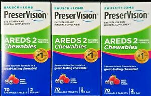 Preservision Areds 2 Formula Chewables, 70 Count -3 Pack -Expiration 09-2021