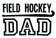 Field Hockey Decal - Girls Sports Window Sticker, School Sport Dad Design