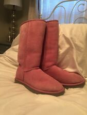 New Authentic Womens Classic Pink UGG Tall Size 8