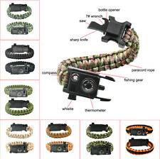 Hot 10 In 1 Multifunction Outdoor Emergency Survival Gear Paracord Bracelet