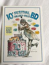 lot de 1 Carte postale Hermann 1998 + 1 Affichette format A4 Hermann 2005