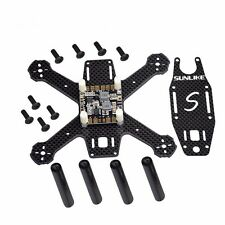 S130A Mini 130mm Integrated Frame Kit Pure Carbon Fiber DIY Quadcopter with PDB