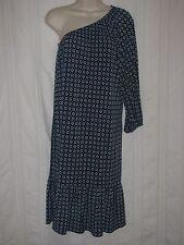Women's MICHAEL KORS  Dress sz L Blue Asymmetrical One Cold Shoulder  Knit
