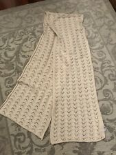 River Island Cream Pearl Knitted Woollen Scarf Wrap