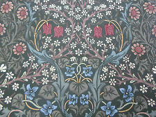 William Morris Curtain Fabric 'BLACKTHORN' 1.1 METRES Green Floral - 100%25 Cotton