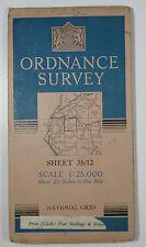 1950 OS Ordnance Survey 1:25000 First Series Prov map NY 12 Lorton Vale 35/12