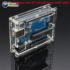 Original Arduino Uno R3 ATmega328 USB Official Genuine Board+Acrylic Case+Cable