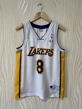 LOS ANGELES LAKERS BASKETBALL SHIRT JERSEY CHAMPION KOBE BRYANT WHITE