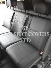 RENAULT TRAFIC CREW CAB SPORTS 6- SEATER -  PVC BLACK LEATHERETTE