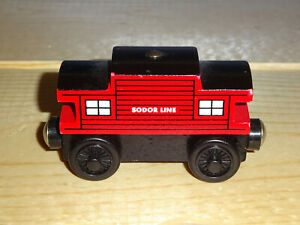Thomas & Friend Wooden Railway Train Sodor Line Caboose Red 2003