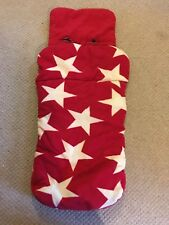 Maclaren Foot Muff Red Star Pattern Cosy Toes For Pushchair