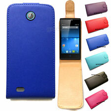 Synthetic Leather Flip Mobile Phone Case Cover For Telstra Tempo / ZTE T815