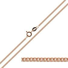 """9ct ROSE Gold Plated on Sterling Silver 1.4mm Curb Chain 16 - 40"""" inch Necklace"""