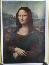 "Print of the ""Monna"" Lisa by Leonardo Da Vinci, Reproduced in the 70's"