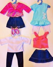 """Doll Clothes Summer LOT Fits 18"""" American Girl 4 Outfits New #33C"""