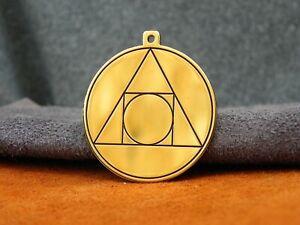 "Alchemy Amulet - The Philosopher's Stone, ""Squaring the circle"" amulet talisman"