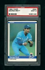 1984 Fleer #344 - Kansas City Royals - George Brett -  PSA 9