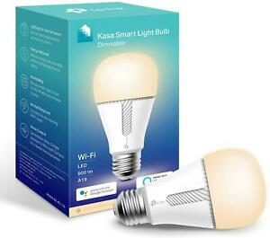 Kasa Smart Bulb by TP-Link, WiFi Smart Switch, E27, 10W, No Hub Required