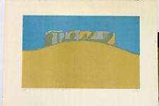 H M Erhardt tirage Original Paysage de Causses 1968