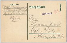 GERMANY - POSTAL HISTORY - COVER from  GERMAN POW in ALGERIA ! - 1915