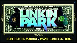 LINKIN PARK IMAN BILLETE 1 DOLLAR BILL MAGNET