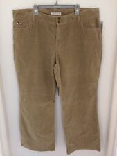 Tommy Hilfiger Womens Stretch Hipster Bootcut Corduroy Pants - Plus Size 24 NEW