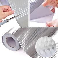 KQ_ Aluminum Foil Self Adhesive Waterproof Wallpaper Kitchen Sticker DIY Hot Sal