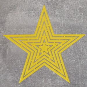 Stern-Schablone, 5 Größen in einer Sternform, 20 cm breit