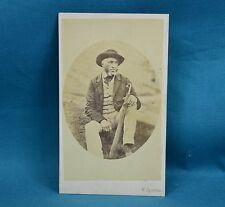 Victorian CDV Photo Carte De Visite Seated Gentleman By Spanton Bury St Edmunds