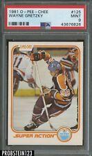 "1981 O-Pee-Chee OPC Hockey #125 Wayne Gretzky Oilers HOF PSA 9 "" CENTERED """