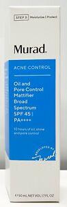 Murad Acne Control Oil Pore Control Mattifier Broad Spectrum SPF 45 PA ++++ NIB