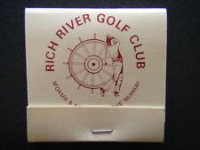 RICH RIVER GOLF CLUB ECHUCA & MOAMA ON THE MURRAY 054 822444 MATCHBOOK