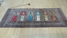 Turkish Wall Hanging CARPET RUG HAND MADE Antique WOOL Mihrab 7ft 4 x 3ft