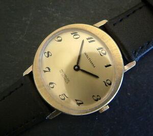 Vintage Gents 1960's GP WALTHAM B304 Watch; Unusual Oval Design; Serviced