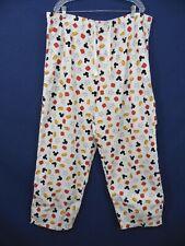 "MICKEY MOUSE Mens 2XL (43-48""W x 31""L) 100% Cotton Pajama Sleep Lounge Pants"