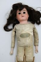 "Antique 18"" Floradora Armand Marseille Bisque Doll Leather List Body Germany"