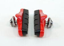 ASHIMA Brake Shoes/Pads for Shimano Road Bike Brakes, RED