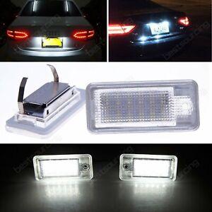 2x Audi A3 8P 2004-2012 Xenon White LED License Number Plate Light Lamp No Error