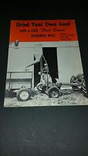 """Rare"" J.I. Case Grind Your Own Feed Hammer Mill Brochure JI Case Hammer Mill"