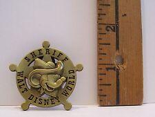 Walt Disney MICKEY MOUSE AS SHERIFF BADGE DISNEY WORLD TRADING Hat Pin Badge