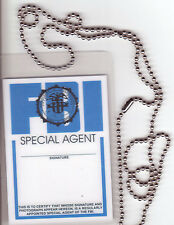Undercover Agent Xfiles X-Files novelty BADGE ID card Identification Card chain