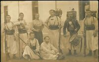 WW1 PLATOON ZOUAVES SPECIAL CORP. RIFLES MILITARY RPPC PHOTO POSTCARD PC